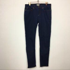 Eileen Fisher dark wash skinny denim jeans 8